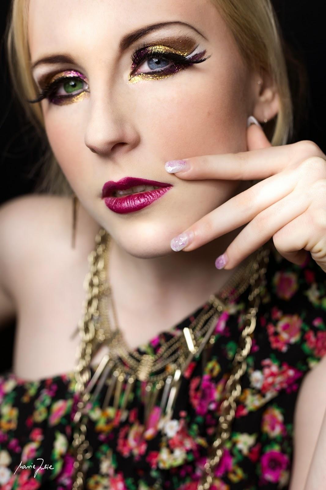 Rosa Welle Gute Laune Vogel Extreme Makeup