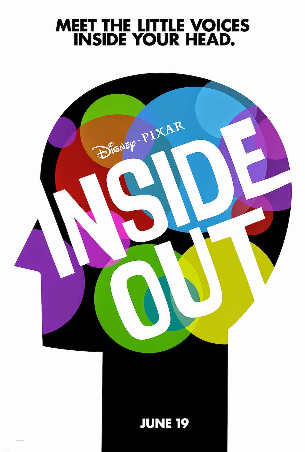 "Inside Out Teaser poster.  The tagline is ""Meet the Little Voices Inside Your Head."""