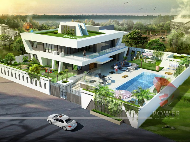 Ultra modern home designs home designs house 3d for Modern bungalow design concept