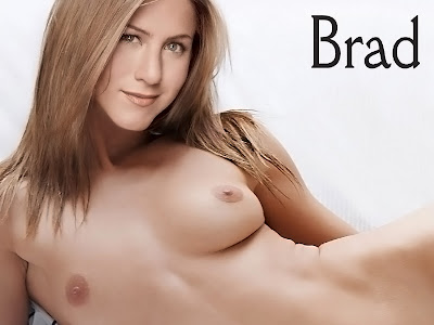 Jennifer Aniston beauty nude on the bed