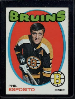 phil esposito 1971-72 o-pee-chee hockey card