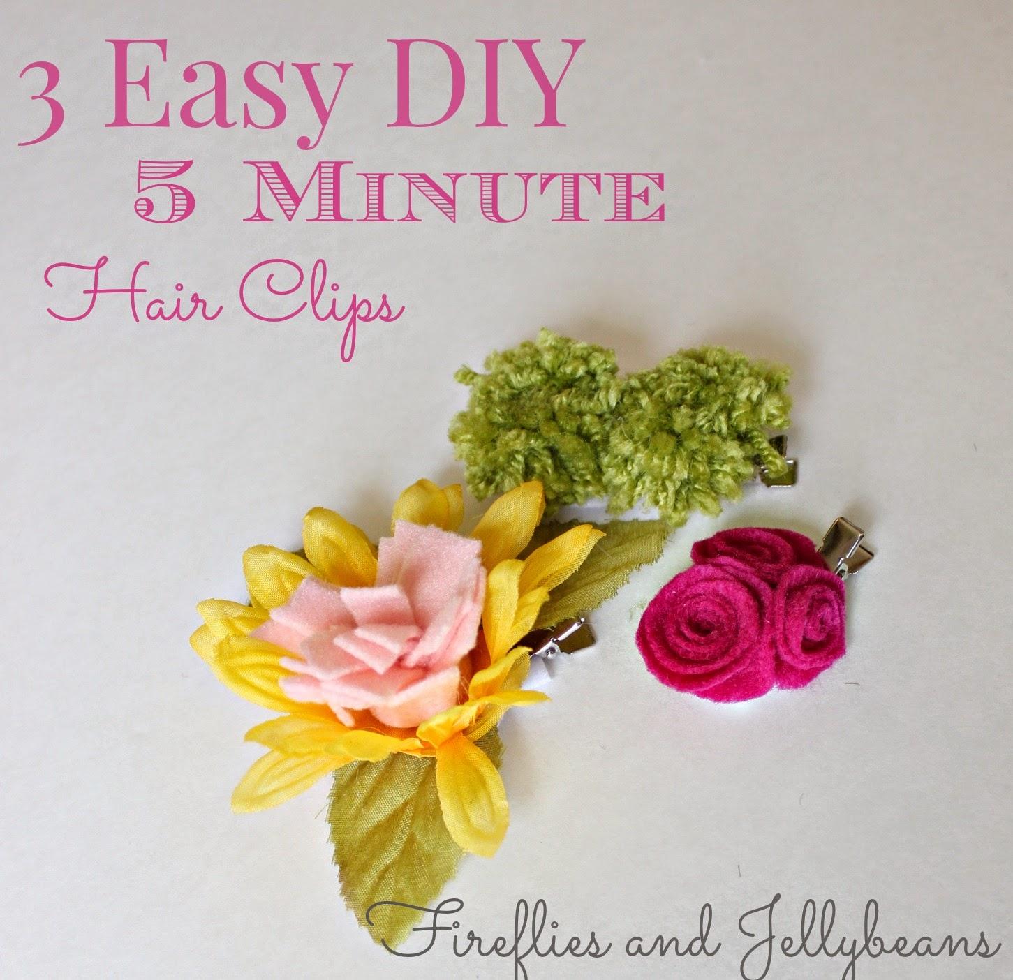 Quick Easy DIY Hair Clips
