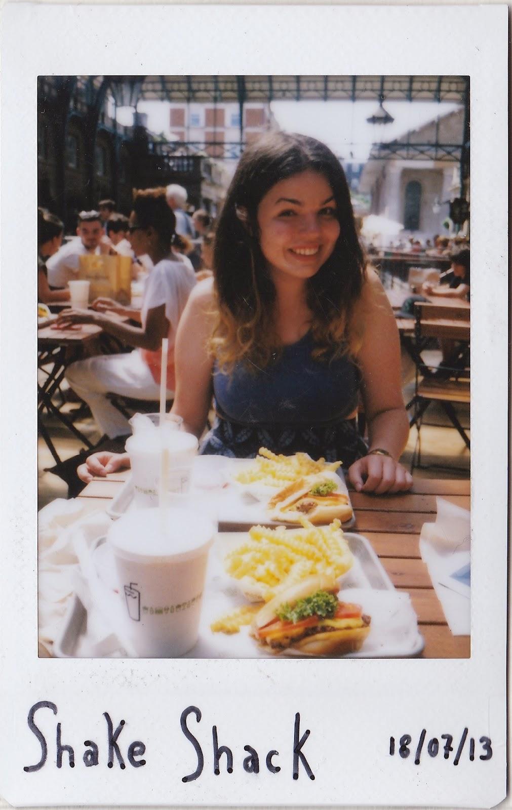 Polaroid of burgers