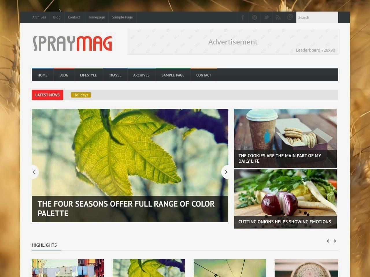 Share Theme Blogspot dành cho trang tạp chí
