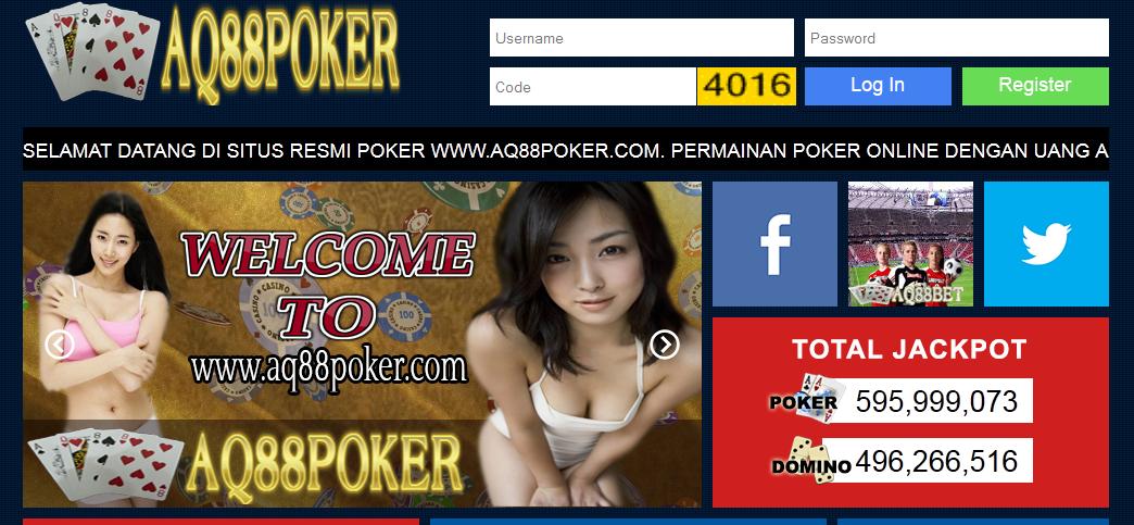 Daftar Judi Poker Online Domino 99 Kiu Kiu AQ88Poker.com