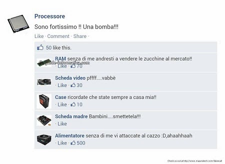 stati e commenti falsi facebook