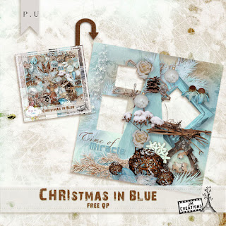 Christmas in Blue by JM Creations + Freebie