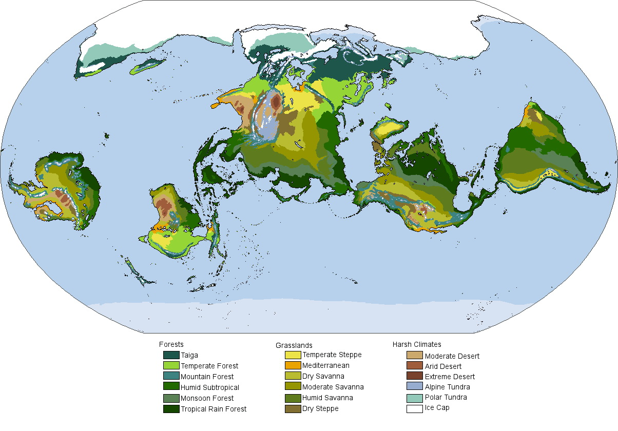 The biomes of a tilted Earth