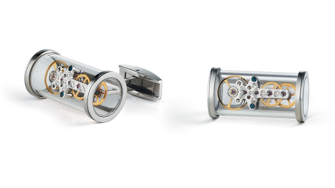 TF EST 1968 T-Mechanic Open Side Cufflinks Watch