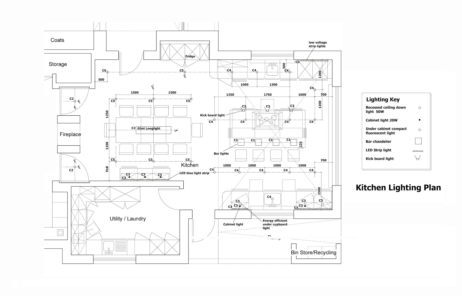 Sangeeta goyal interior designer portfolio for Kitchen lighting plan