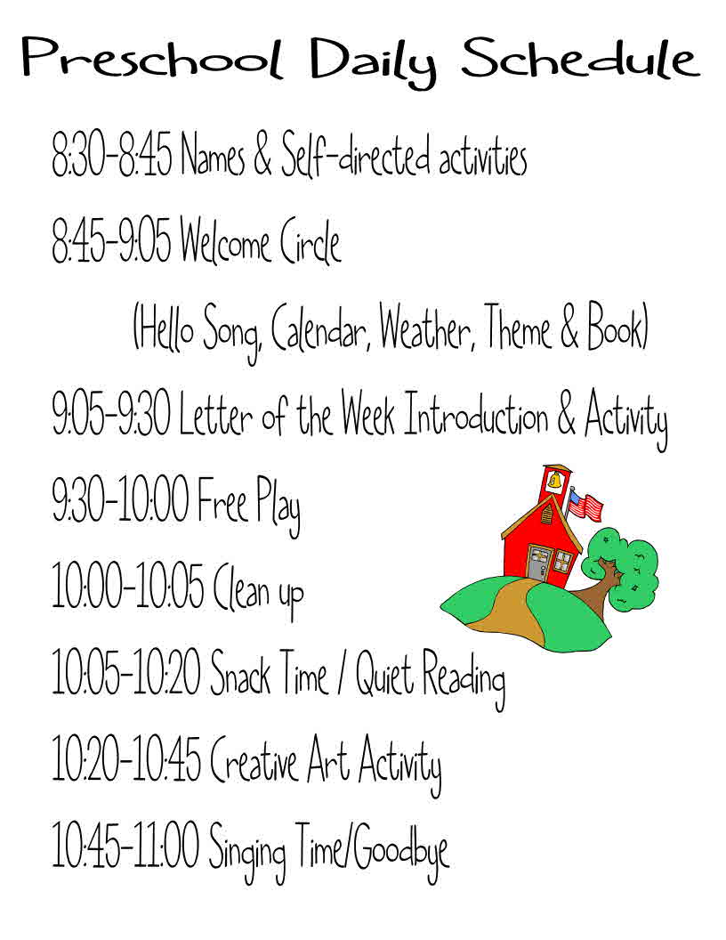 preschool daily schedules a circus september 2012 437