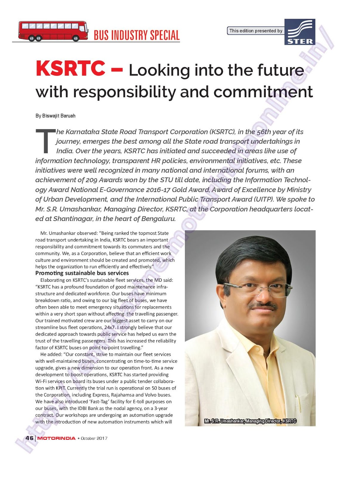 MOTOR INDIA ARTICLE 22 : KSRTC KARNATAKA