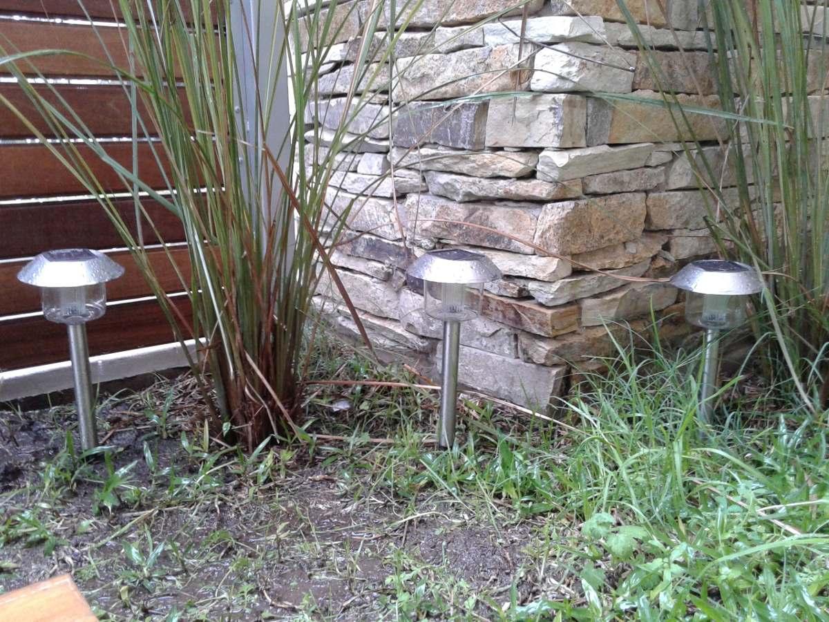 Everblue l mparas estaca solar para jardin no usan for Solar jardin