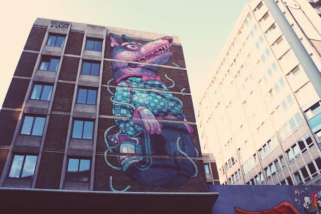 Aryz, Wolf Boy, Nelson Street Bristol, Mural, Street Art, Graffiti