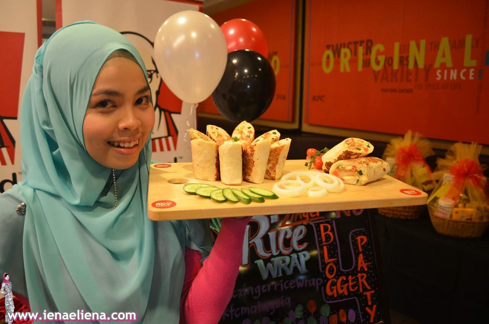 Model Muslimah KFC Zinger Rice Wrap