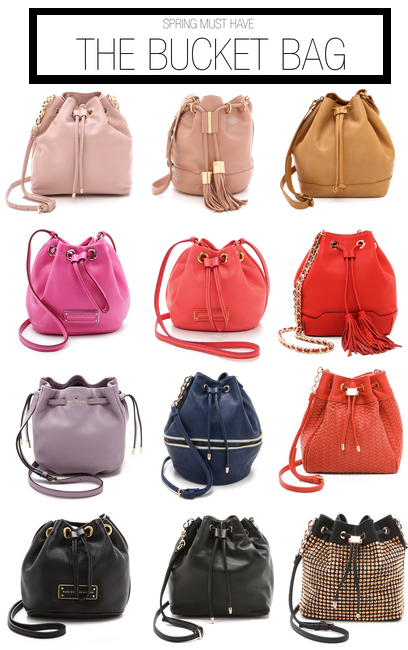 spring must have: bucket bags