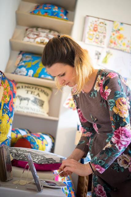 Textiles, Cushions, Studio, Vintage finds, Hand printed textiles, Bristol