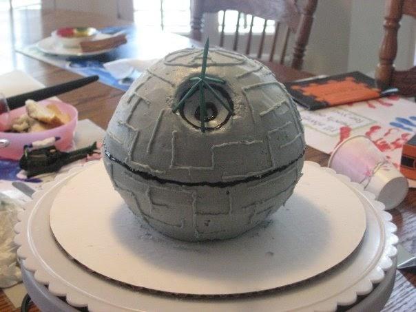 You Me And B Diy Star Wars Death Star Birthday Cake