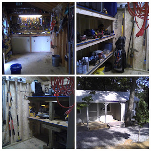 The tool shed is complete!
