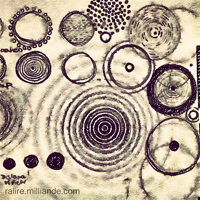 Sketchbook Ralire Study - Monad Circle Symbol Explorations, Archetype of the Circle Number ONE @ ralire.milliande.com Developing Sketchbooks