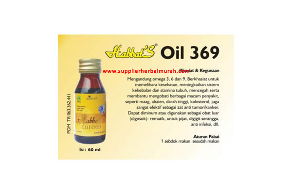 Habbats Oil 369 60ml PT Habbats Int'l