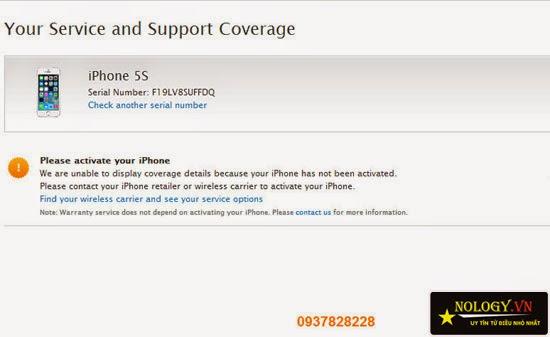hướng dẫn test máy iphone 5s