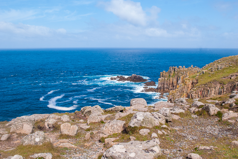 Scenery at land's end, west cornwall, uk beautiful destinations in england