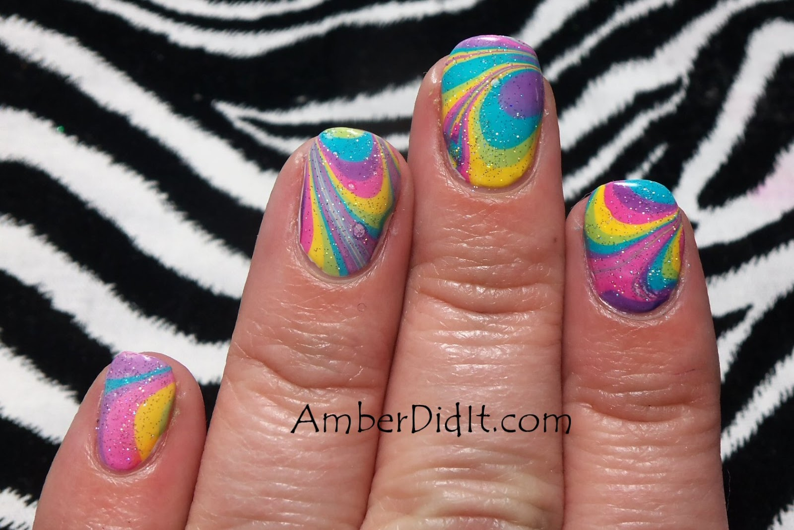 Amber did it rainbow water marble rainbow water marble prinsesfo Image collections