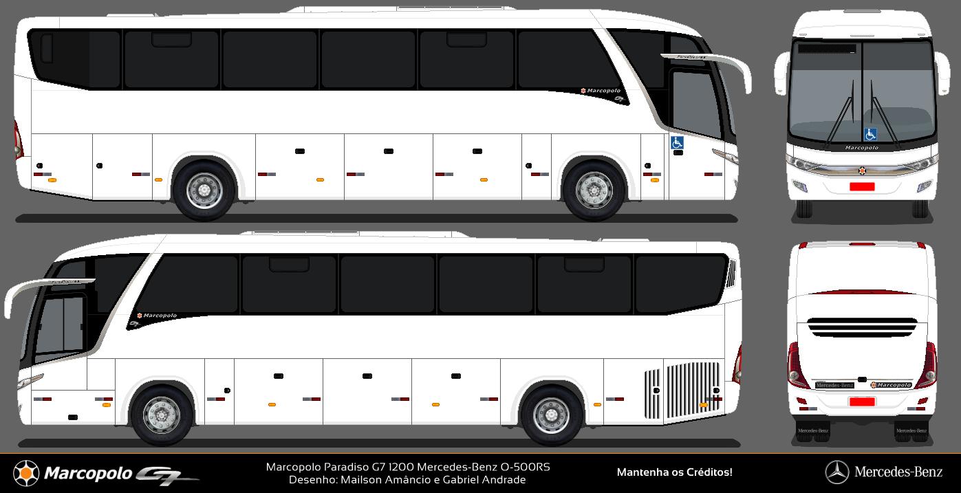 Desenhos De 212 Nibus De Goi 225 S Marcopolo Paradiso G7 1200