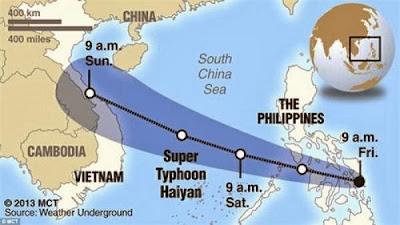 TIFON HAIYAN SE DIRIGE A TAIWAN, 09 DE NOVIEMBRE 2013