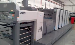 2006 Ryobi 754D L Offset Printing Machine