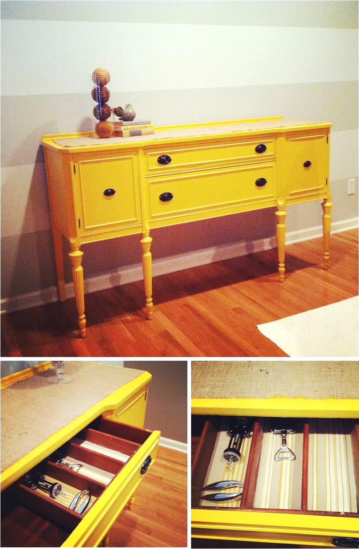 jessica stout design diy marigold buffet table rh jessicastoutdesign blogspot com Yellow Buffet Cabinet with Glass Yellow Candy Buffet