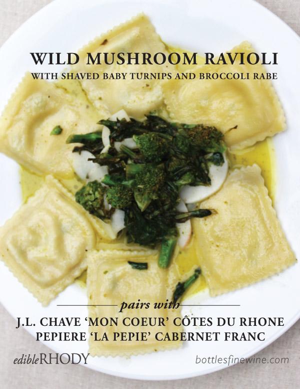 Mushroom Ravioli Recipe and Wine Pairings