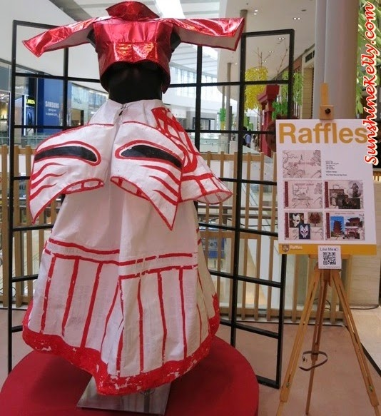The White Recycle Bag Dress, Tokyo Street Earth Month, raffles college, Mother Nature, Art exhibition, pavilion kl, recycle material, recycle art