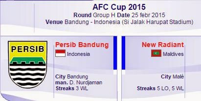 RCTI Siarkan Langsung Persib vs New Radiant - AFC Cup 2015