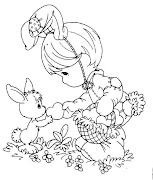 Dibujo de Precisos Momentos: Pascua para colorear y pintar