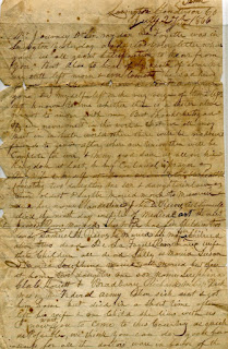 1866 Letter from Richard Elwell Reeves