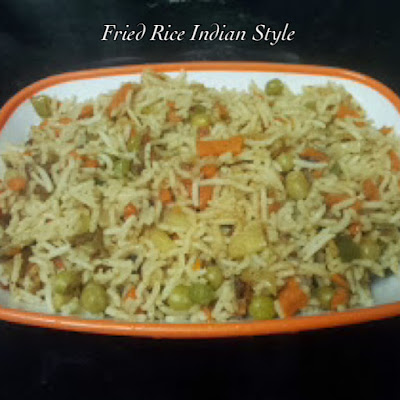 Veg Fried Rice-Indian Style