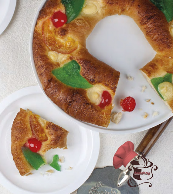 Roscón de Reyes relleno de Mazapán