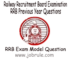 Railway Recruitment Competitive Examination Sample/Model & Previous Years Question Paper for Practice 2