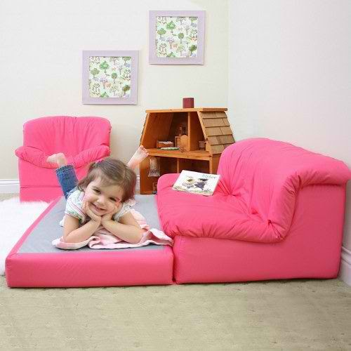 Contemporary Kids Furniture – My Little Kids Flip 'n Out Lounge Sofa