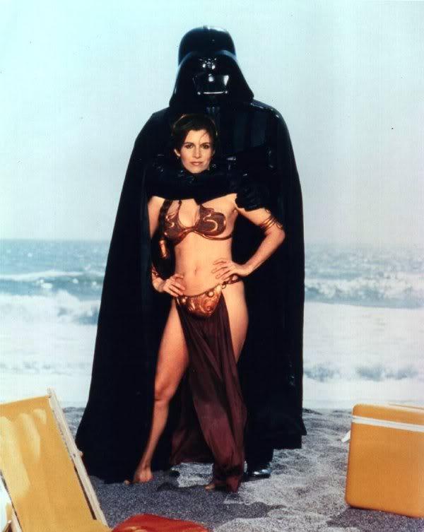 Vader hugging Leia