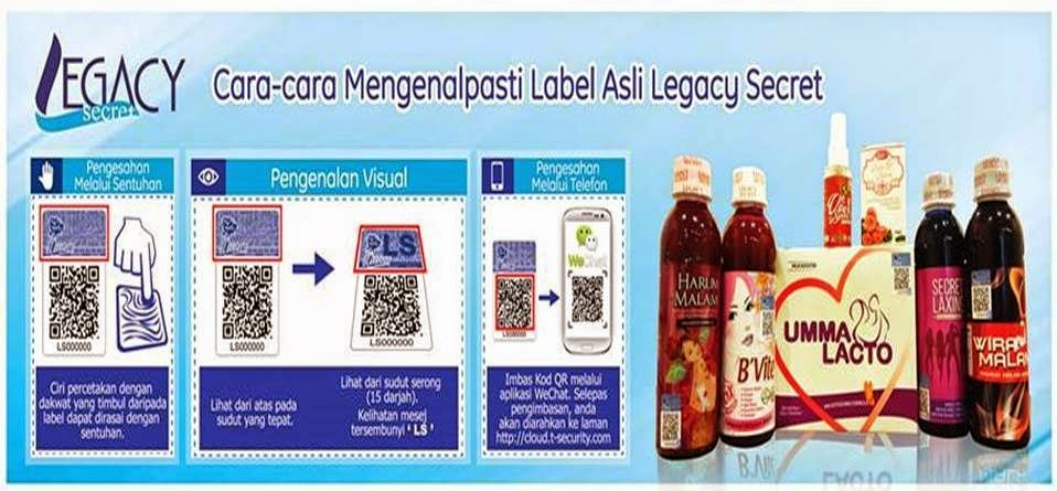 cara mengenalpasti label asli secret laxing