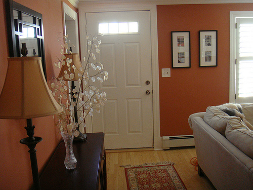 Small Living Room Off Foyer : Creating an entry bungalow home staging redesign