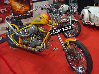 Yamaha VMAX bike from Ghost Rider אופנועים תערוכת אוטומוטור