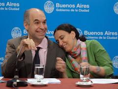 Gabriela Michetti y Horacio Larreta fueron amantes.