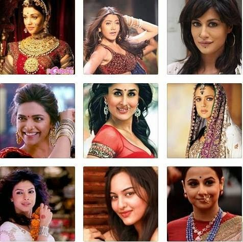 Bollywood actres with nose ring