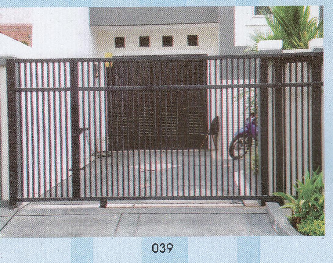 canopy jual pagar rumah pintu gerbang pintu dorong