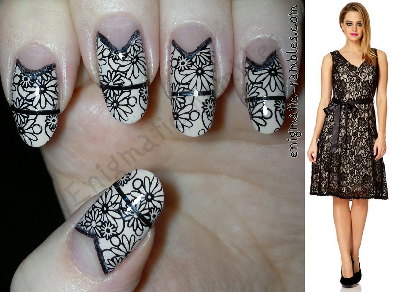 Nail-Art-Inspired-By-Quiz-Clothing-Dress-black-embellished-leighton-denny-opaque-elegance-cheeky-ch44