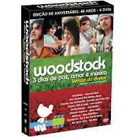 DVD Woodstock: 3 dias de Paz, Amor e Música - 40 Anos